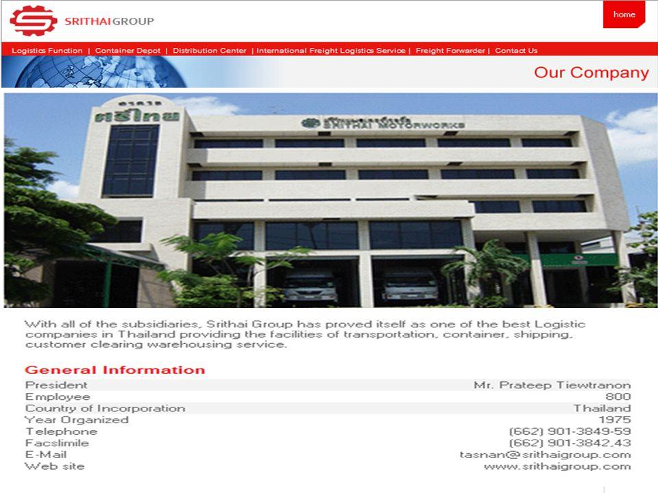 Affiliated CompaniesBusiness ActivitiesLocation Srithai Freight Forwarder Co., Ltd.