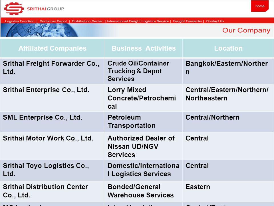 Business Locations Srithai Group Smart Logistics