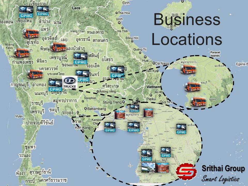 Business Locations Srithai Group Smart Logistics
