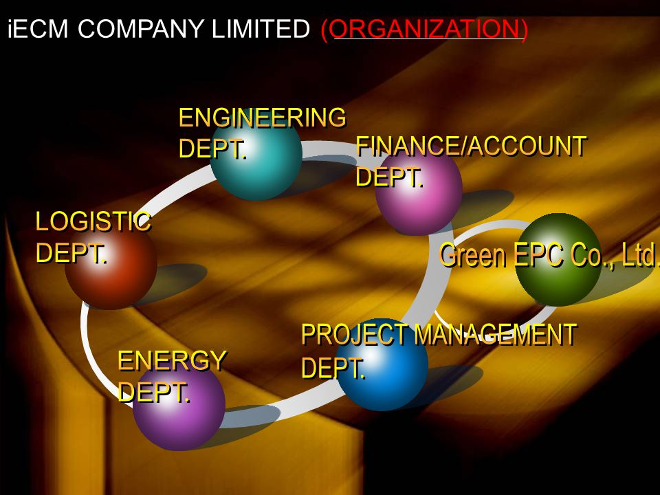 iECM & Green EPC to grow up We're professional  Engineering Consultant  Construction Management  Design and Built  Energy Expert