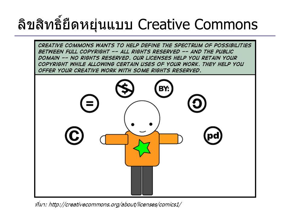 ลิขสิทธิ์ยืดหยุ่นแบบ Creative Commons ที่มา: http://creativecommons.org/about/licenses/comics1/