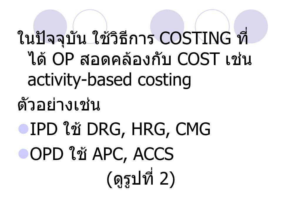 COSTING ที่สะท้อน RESOURCES ที่ใช้ในการผลิต OP ได้ต้องอาศัย การ allocate overhead costs หากทำให้ allocation มีความ ละเอียดมากเท่าไร จะสามารถระบุ และลด excess inputs ได้ รวมทั้งเพิ่ม output slack ได้ ( ดูรูปที่ 3)