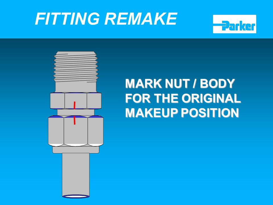 20 MARK NUT / BODY FOR THE ORIGINAL MAKEUP POSITION FITTING REMAKE