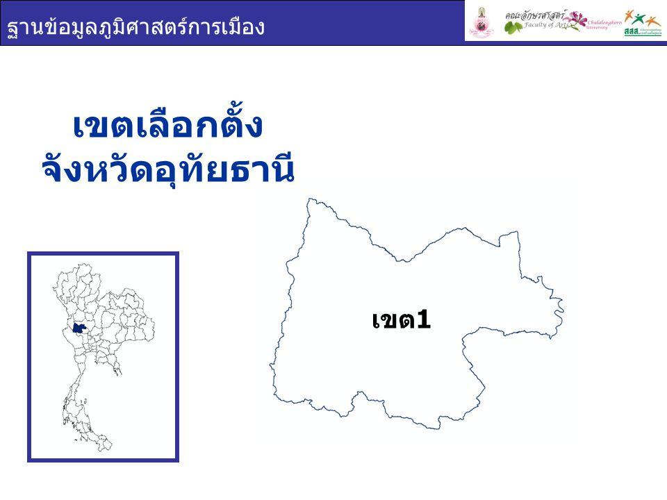 ฐานข้อมูลภูมิศาสตร์การเมือง เขตเลือกตั้ง จังหวัดอุทัยธานี เขต 1