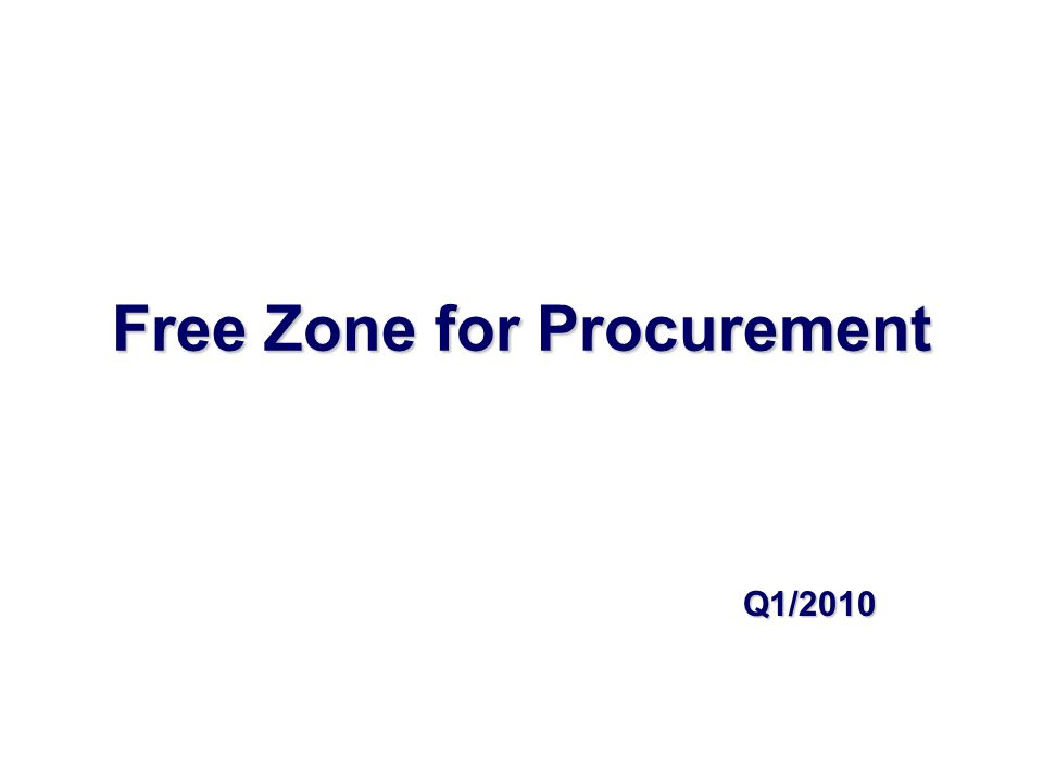 Objective  Set standard practice for item which need to apply Free Zone Privilege.