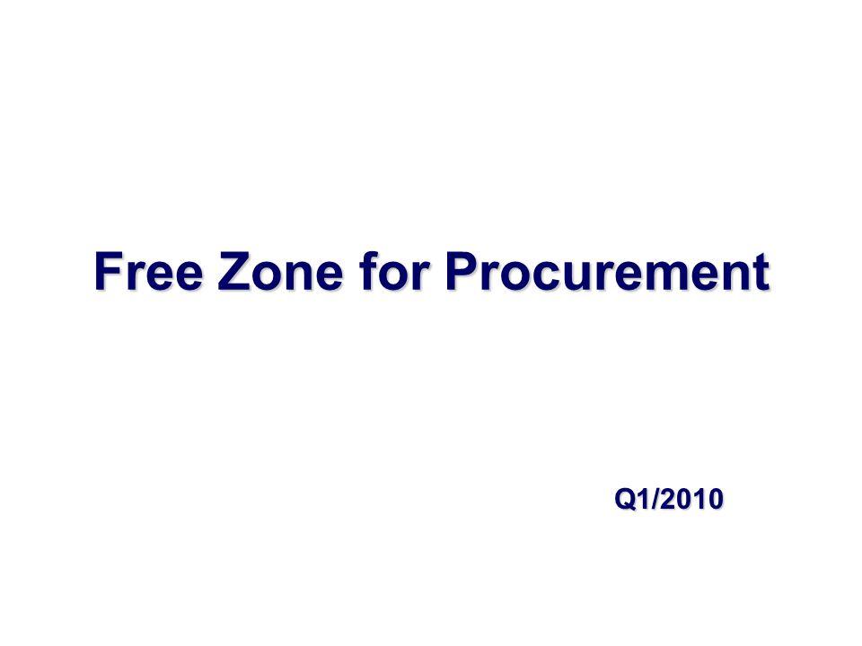 Free Zone for Procurement Q1/2010