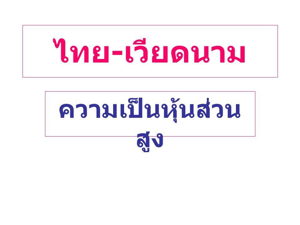 ไทย - เวียดนาม ความเป็นหุ้นส่วน สูง