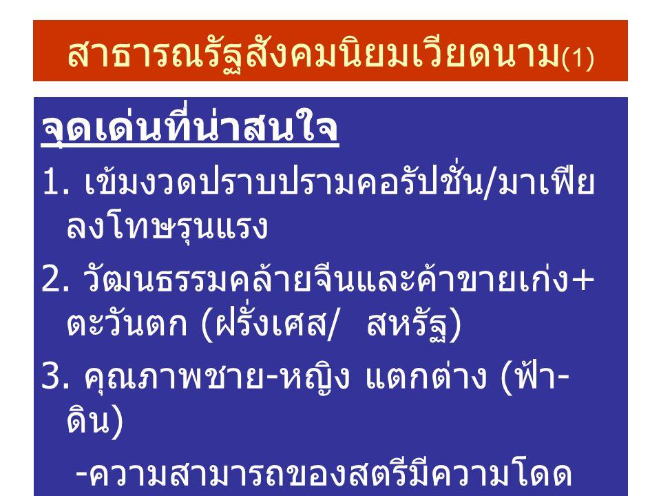 สาธารณรัฐสังคมนิยมเวียดนาม (1) จุดเด่นที่น่าสนใจ 1.