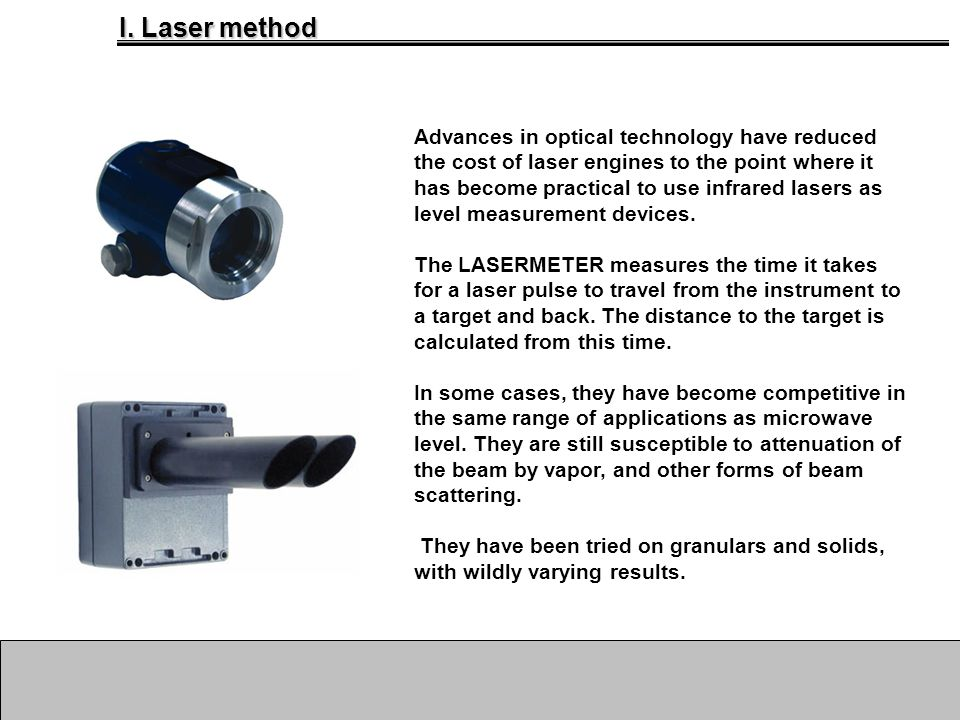 I. Laser method Advances in optical technology have reduced the cost of laser engines to the point where it has become practical to use infrared laser