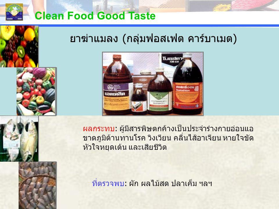 Clean Food Good Taste เรื่องข้อมาตรฐาน ง.