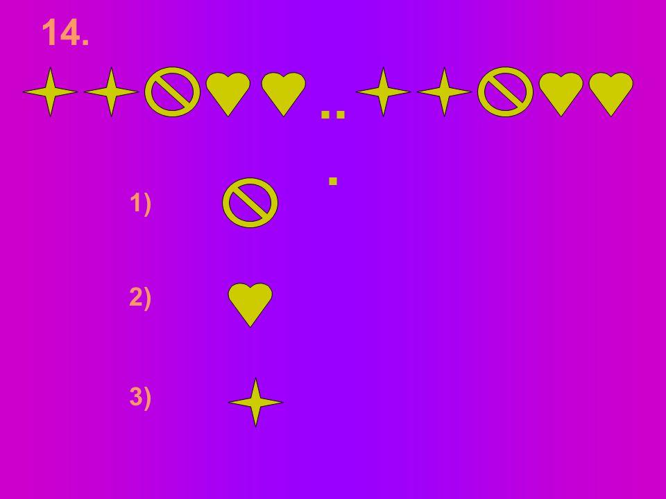 1122334…56... 45 6 7 5566 54 7 6 13. 1) 2) 3)