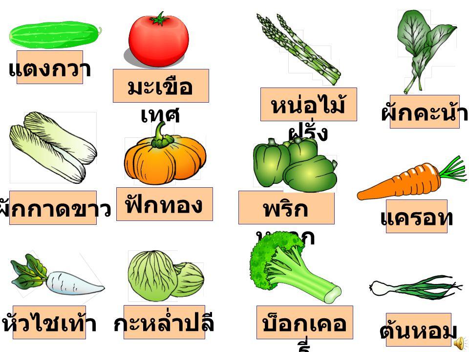 วัตถุประสงค์ 1. เพื่อให้เด็กสามารถบอกชื่อผักได้อย่างน้อย 3 ชื่อ 2. เพื่อให้เด็กสามารถบอกประโยชน์ของผักได้ 3. เพื่อให้เด็กมีความรู้สึกที่ดีต่อผัก