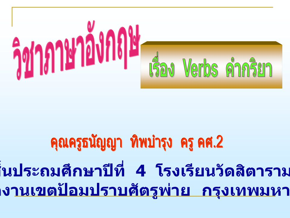 Alphabet Buttons Appear Here หยุด in English called _ _ _ _ Write this word in English. 60