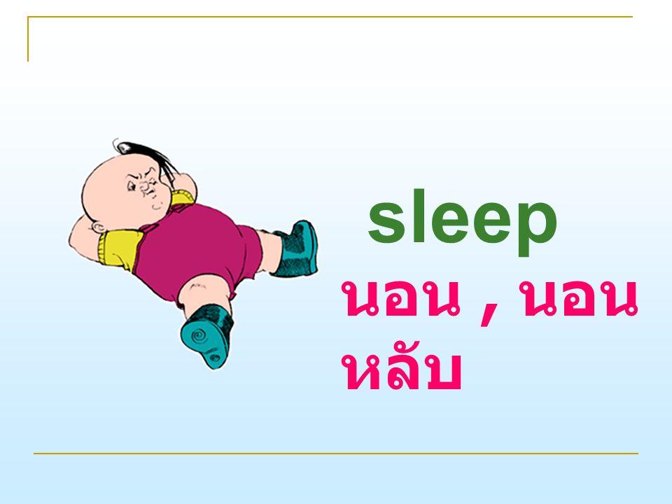 sleep นอน, นอน หลับ