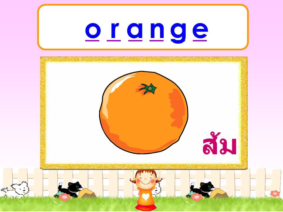 orange ส้ม