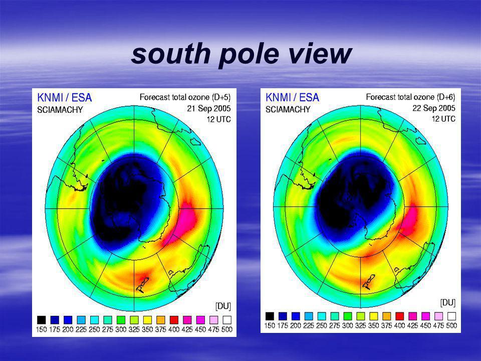 south pole view