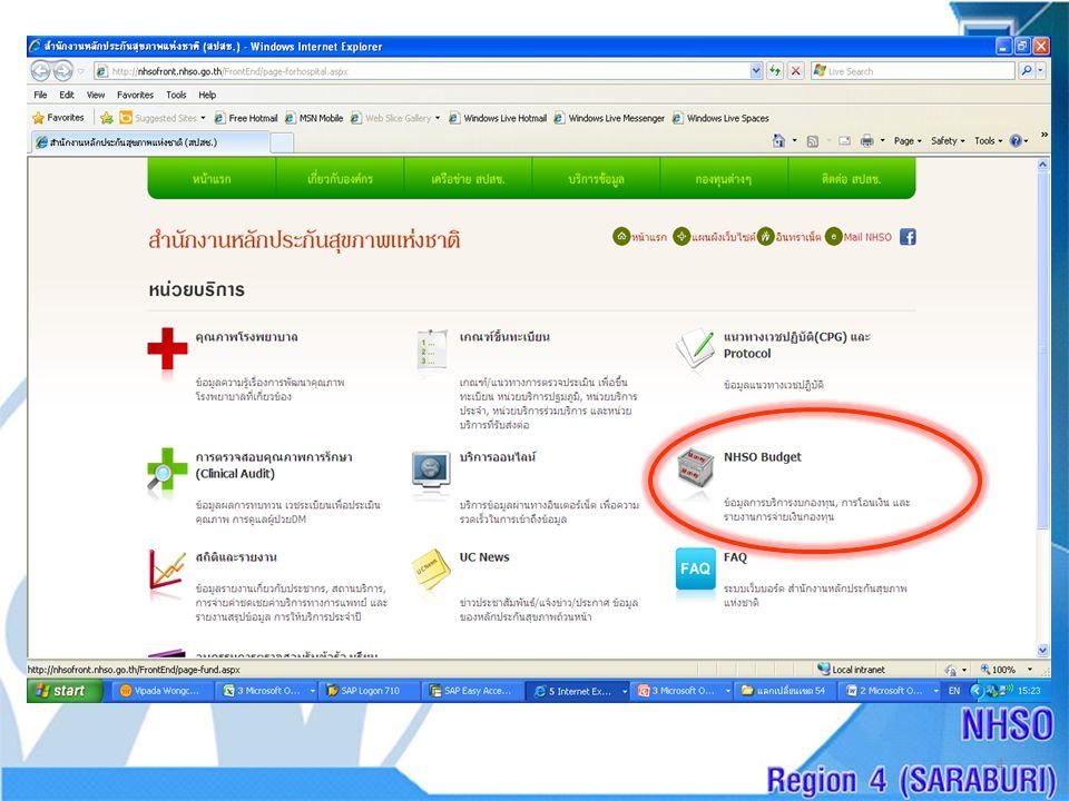 Download Slide • http://saraburi.nhso.go.th/Download/ME-IT-9-11- 55.pptx http://saraburi.nhso.go.th/Download/ME-IT-9-11- 55.pptx ขอบคุณครับ แมวขาวหรือแมวดำไม่สำคัญ ขอให้จับหนูได้ก็เป็นพอ เติ้ง เสี่ยว ผิง