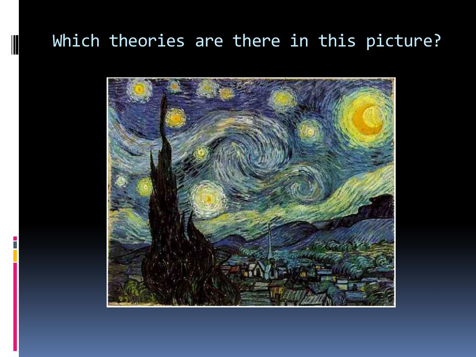 Which theories are there in this picture?