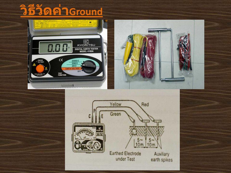 วิธีวัดค่า Ground