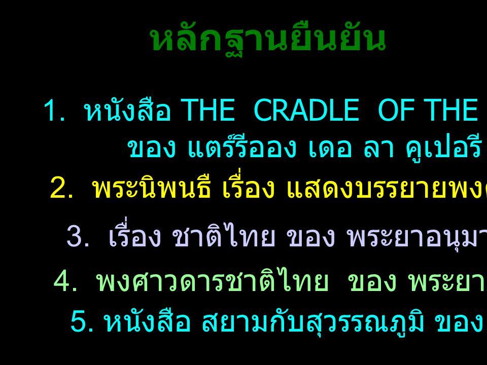 1.หนังสือ THE CRADLE OF THE SIAM RACE ของ แตร์รีออง เดอ ลา คูเปอรี 2.