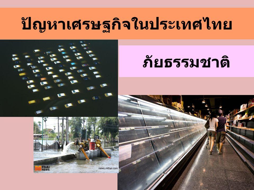 ปัญหาเศรษฐกิจในประเทศไทย ภัยธรรมชาติ