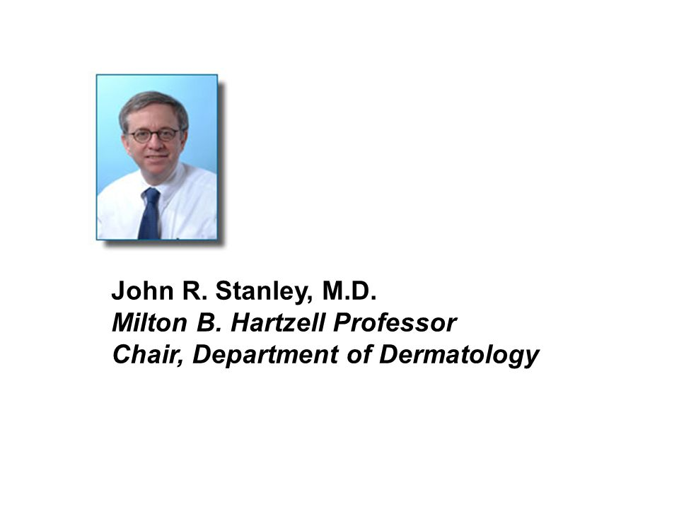 John R. Stanley, M.D. Milton B. Hartzell Professor Chair, Department of Dermatology