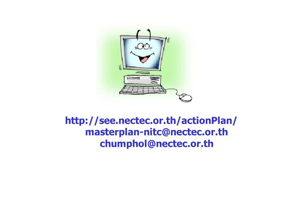 http://see.nectec.or.th/actionPlan/ masterplan-nitc@nectec.or.th chumphol@nectec.or.th