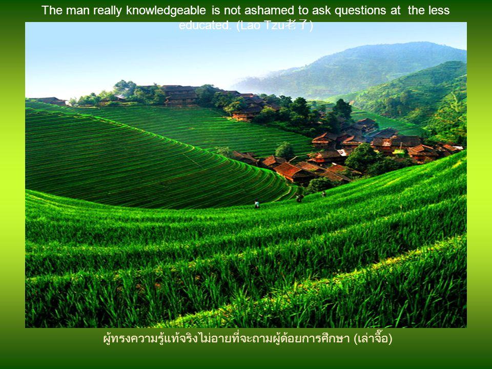 โดยการพิจารณาความผิดพลาดของมนุษย์ เราจึ่งรู้จักลักษณะตัวตนของเขา(ขงจื๊อ) By examining the mistakes of a man, we know his character. (Confucius 孔夫子