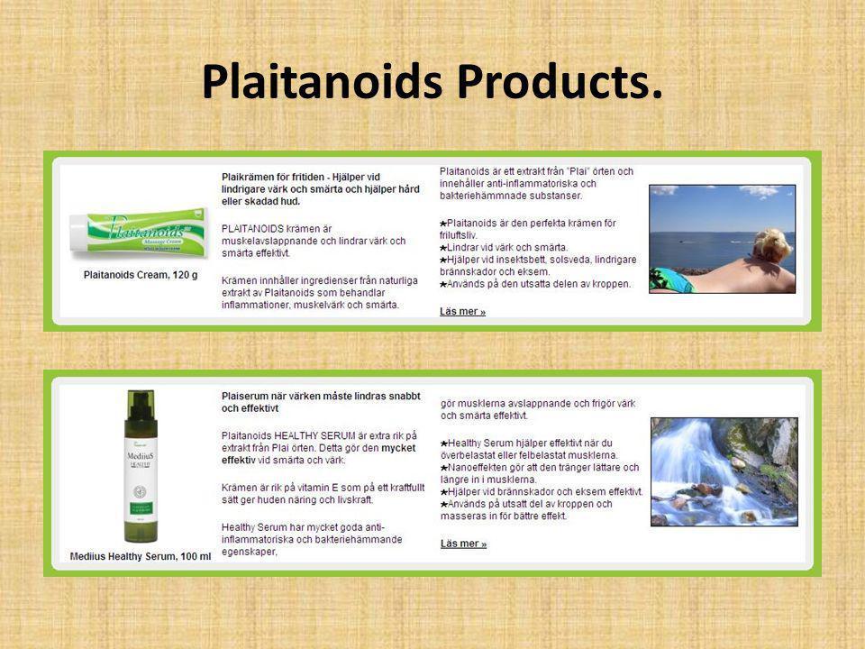 Plaitanoids Products.