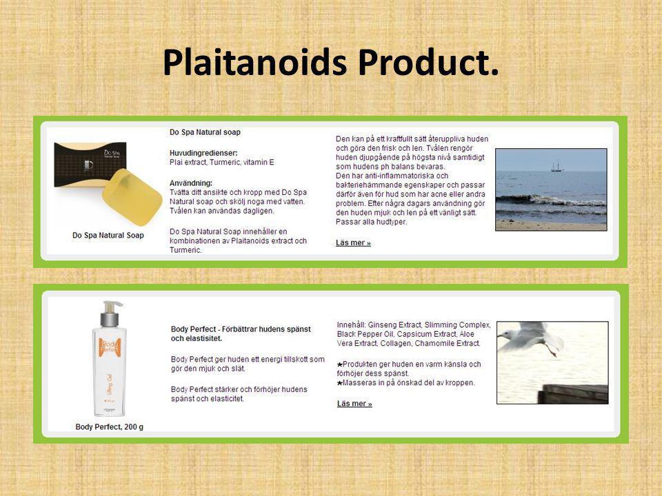 Plaitanoids Product.