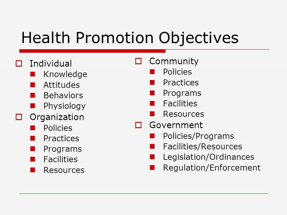 ADVOCACY FOR HEALTH ผลรวมของการดำเนินงานที่กำหนดขึ้นโดย บุคคล / กลุ่มเพื่อสร้าง  POLITICAL COMMITMENT  POLICY SUPPORT  SYSTEM SUPPORT  SOCIAL ACCEPTANCE เพื่อบรรลุเป้าหมายด้านสุขภาพ