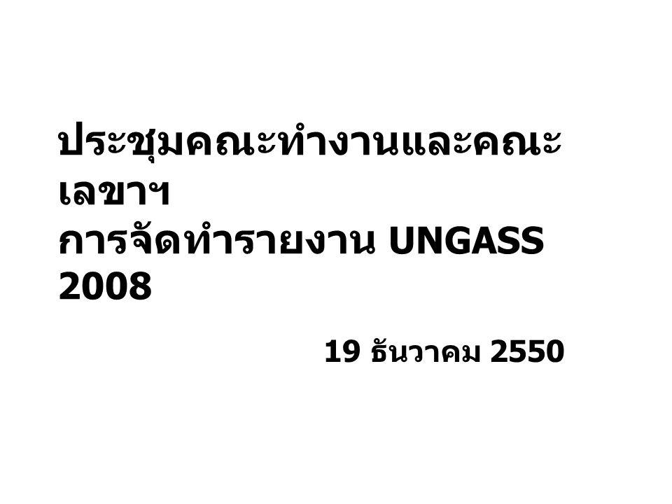 ประชุมคณะทำงานและคณะ เลขาฯ การจัดทำรายงาน UNGASS 2008 19 ธันวาคม 2550