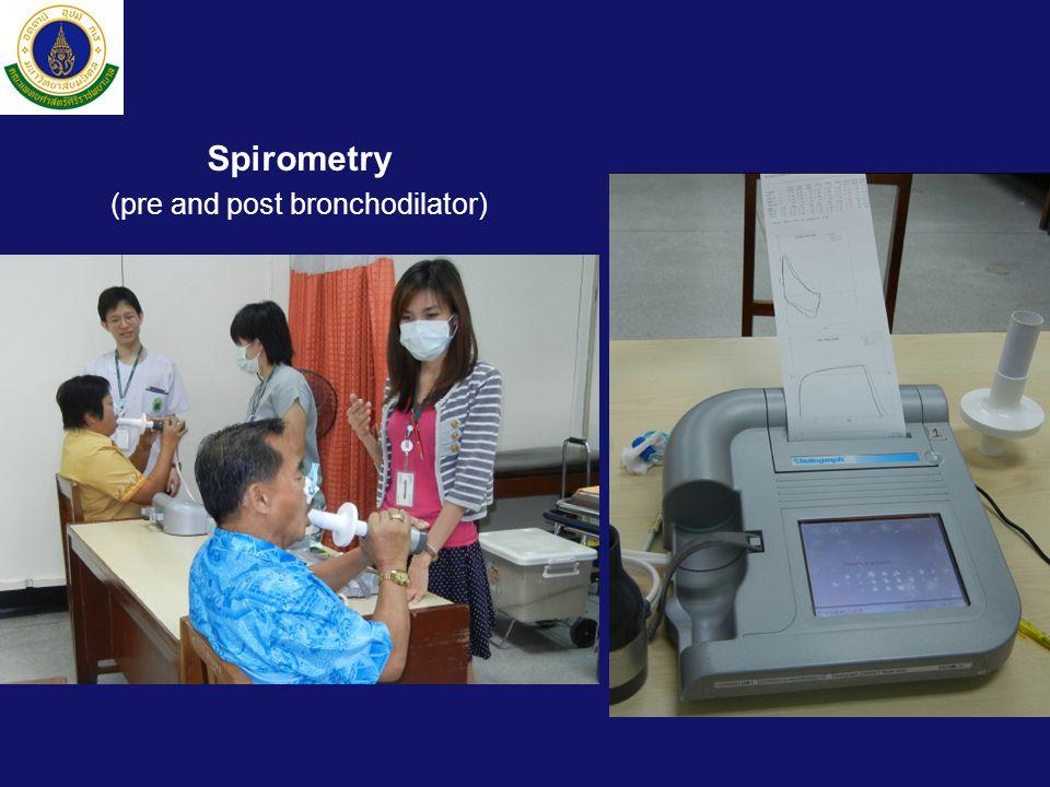 Spirometry (pre and post bronchodilator)