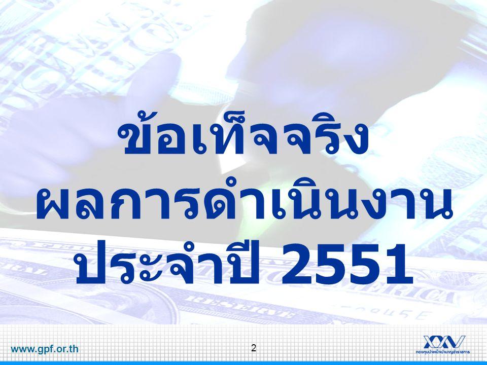 2 ข้อเท็จจริง ผลการดำเนินงาน ประจำปี 2551
