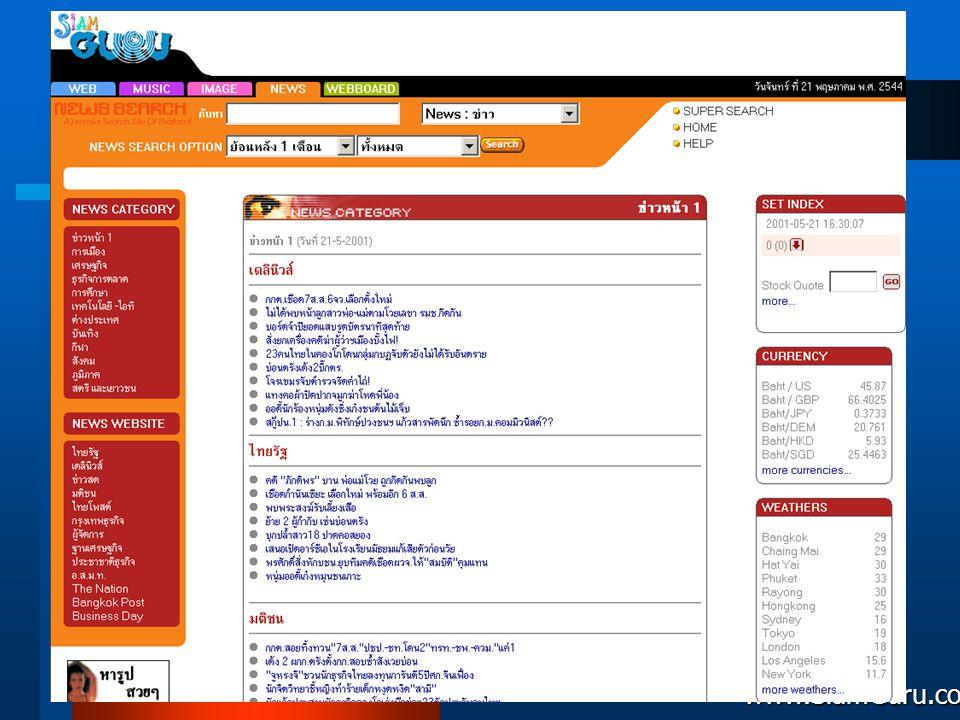 News Search Siamguru Co., LTD. www.SiamGuru.com