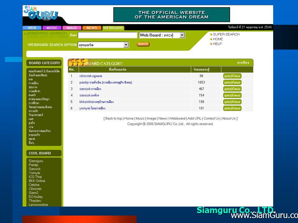Siamguru Co., LTD. www.SiamGuru.com