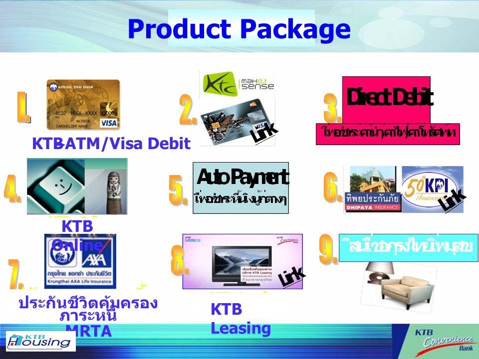 Product Package KTB–ATM/Visa DebitKTB–ATM/Visa DebitKTB–ATM/Visa Debit KTB Leasing ประกันชีวิตคุ้มครอง ภาระหนี้ MRTA KTB Online
