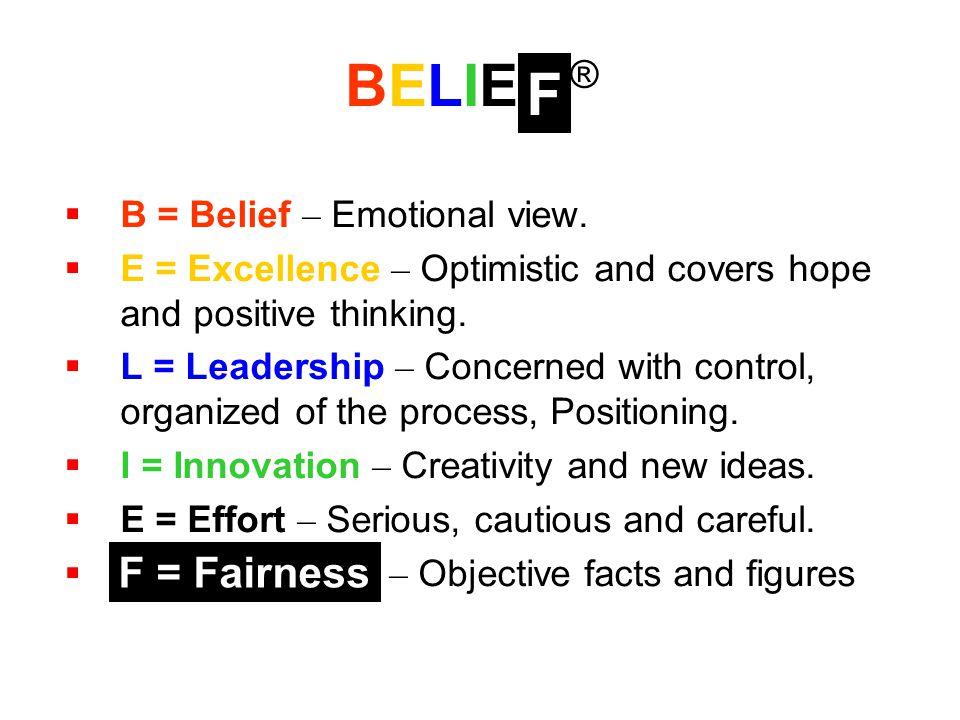 Belief – ความเชื่อมั่นในสมาคม 1.เข้าใจในวัตถุประสงค์และแนวทางการดำเนินงานของ สมาคม 2.
