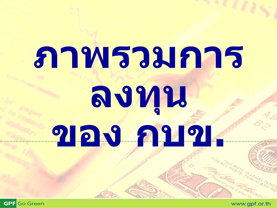 ภาพรวมการ ลงทุน ของ กบข.