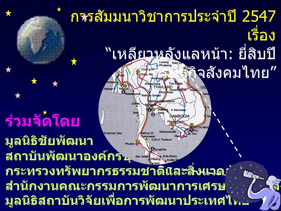 คุณอานันท์ ปันยารชุน ประธานสภาสถาบันวิจัยเพื่อ การพัฒนาประเทศไทย กล่าวเปิดสัมมนา