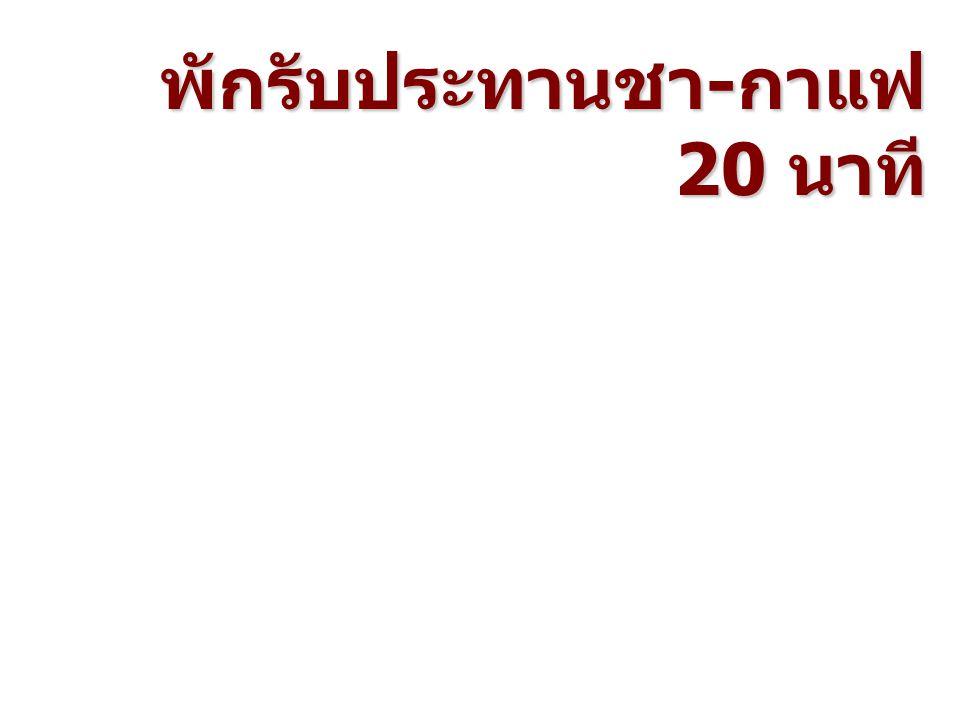 โดยคณะนักวิจัยสถาบันวิจัยเพื่อการพัฒนา ประเทศไทย ประธาน ดร.