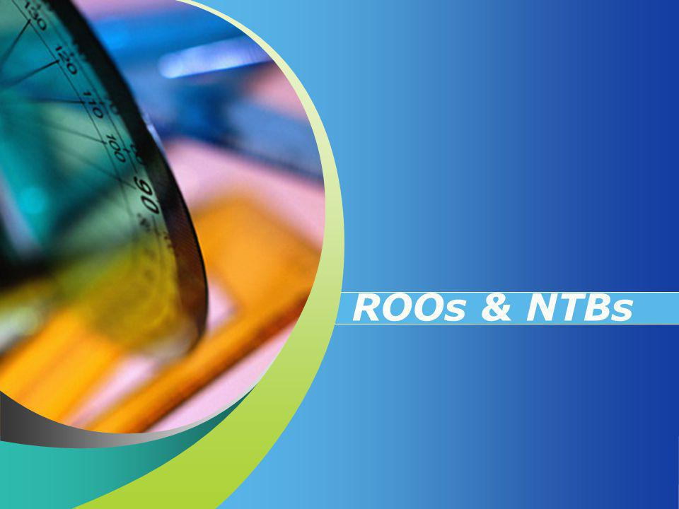 ROOs & NTBs