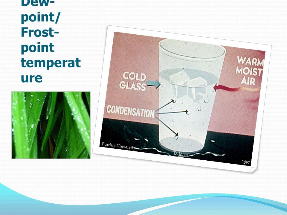 Dew- point/ Frost- point temperat ure