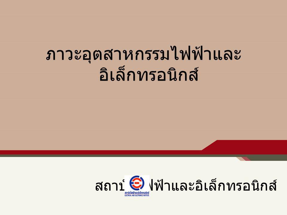 ภาวะและแนวโน้มอุตสาหกรรมไฟฟ้า และอิเล็กทรอนิกส์ของไทย มูลค่า สัดส่วนตลาด และการขยายตัว ของการส่งออก EE