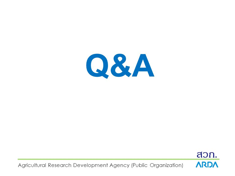 Agricultural Research Development Agency (Public Organization) Q&A