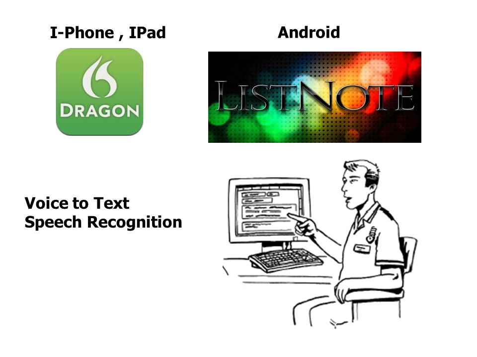 Voice to Text Speech Recognition I-Phone, IPad Android
