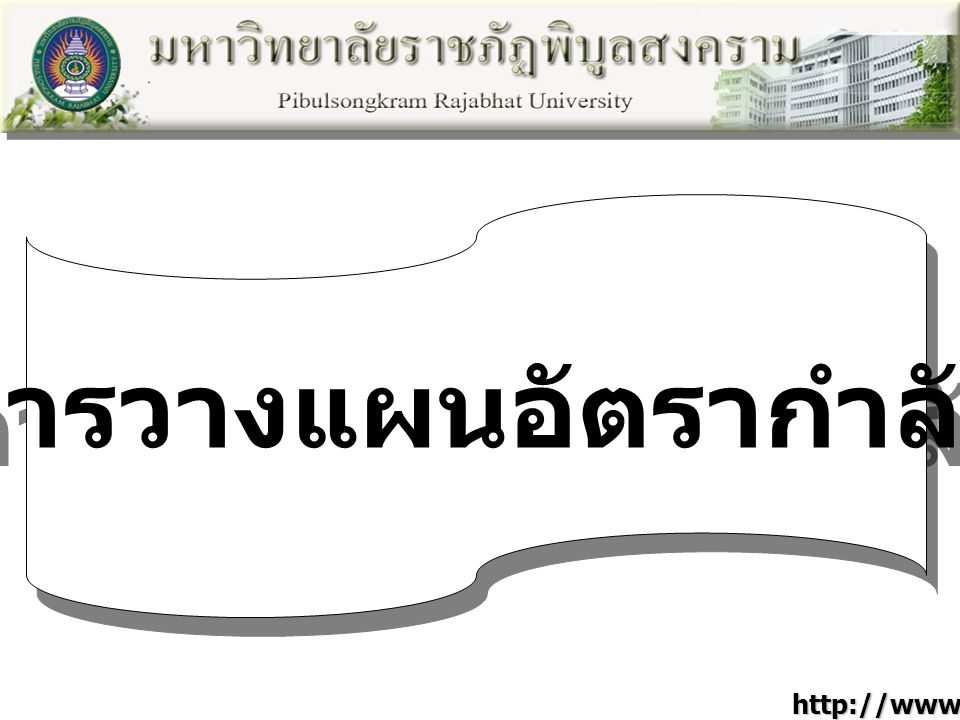 การวางแผนอัตรากำลัง http://www.psru.ac.th