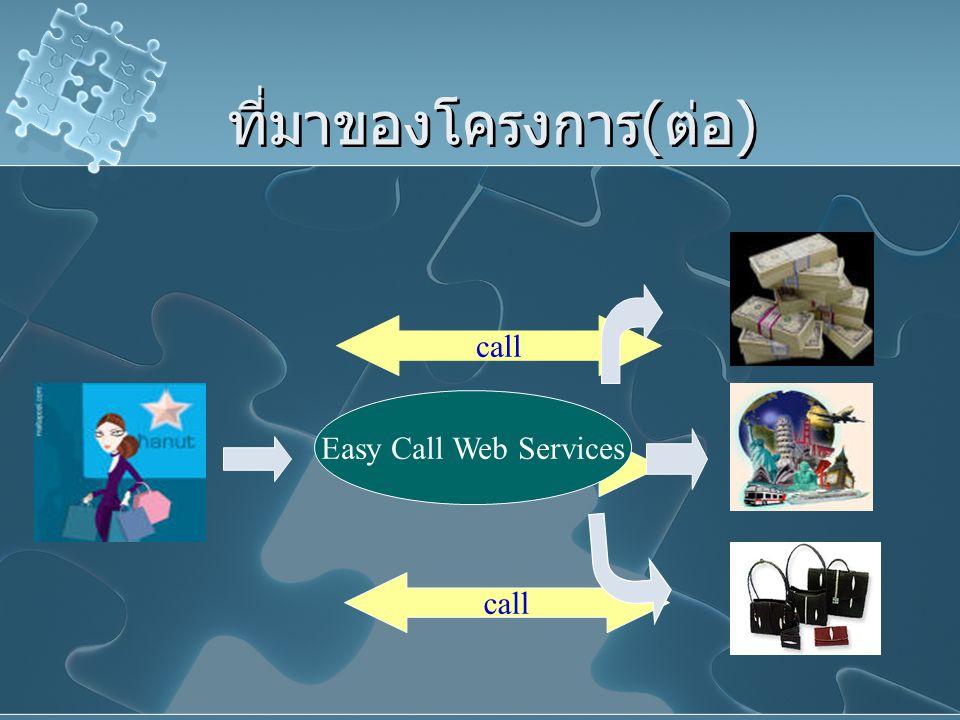 ที่มาของโครงการ(ต่อ) call Easy Call Web Services