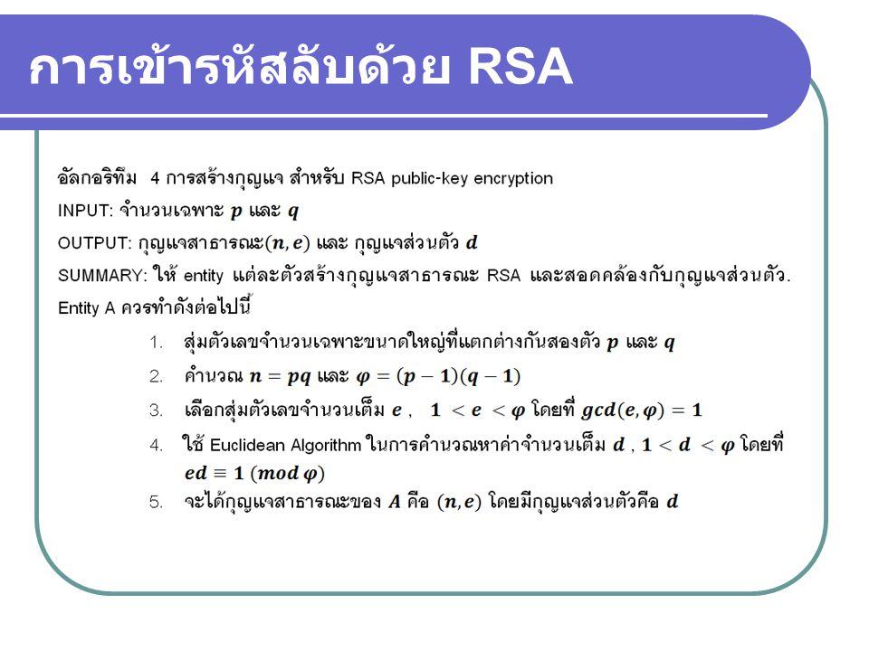 การเข้ารหัสลับด้วย RSA