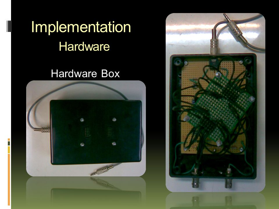 Implementation Hardware Hardware Box
